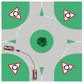 45-roundabout-left-single-lane